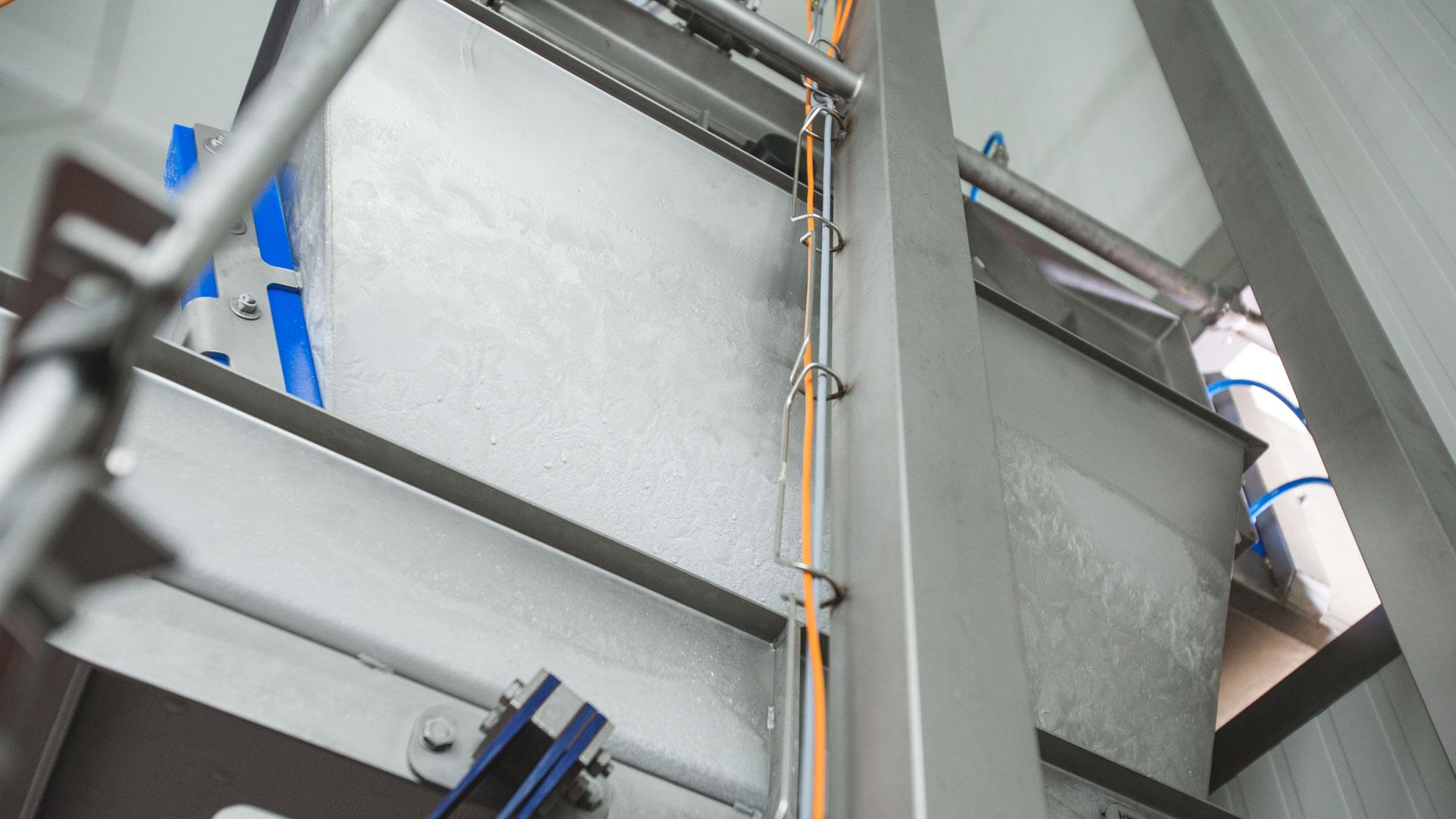 Foto van hygienische bekabeling met vecoclip profielen